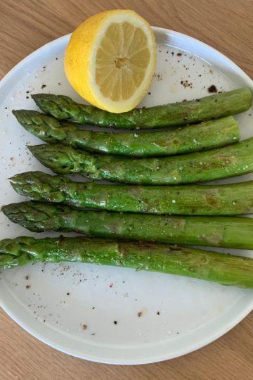 asperge grillée au citron