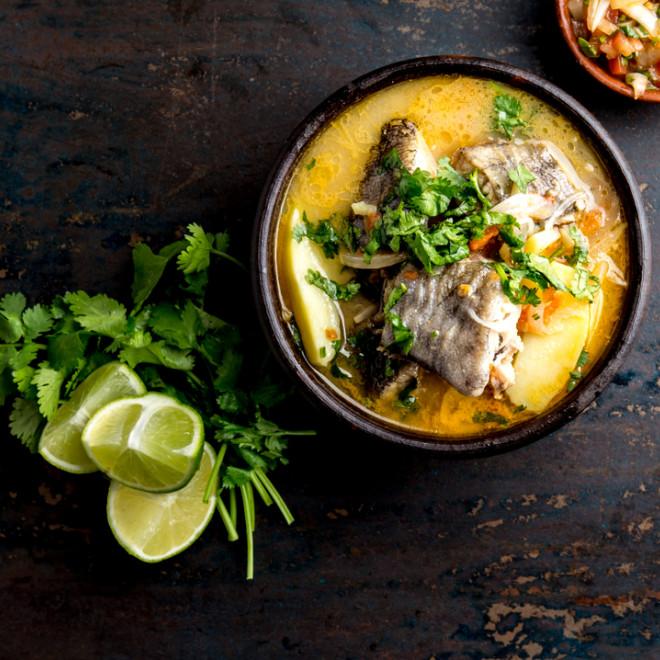 Sauce légumes au poisson frais