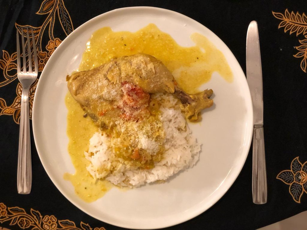 poulet coco curry
